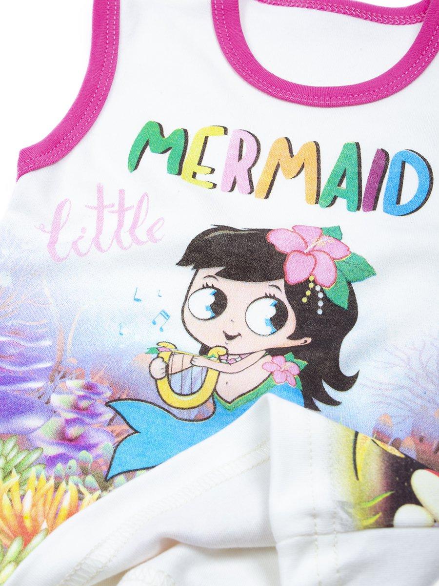 Комплект для девочки: майка и шорты, цвет: молочный