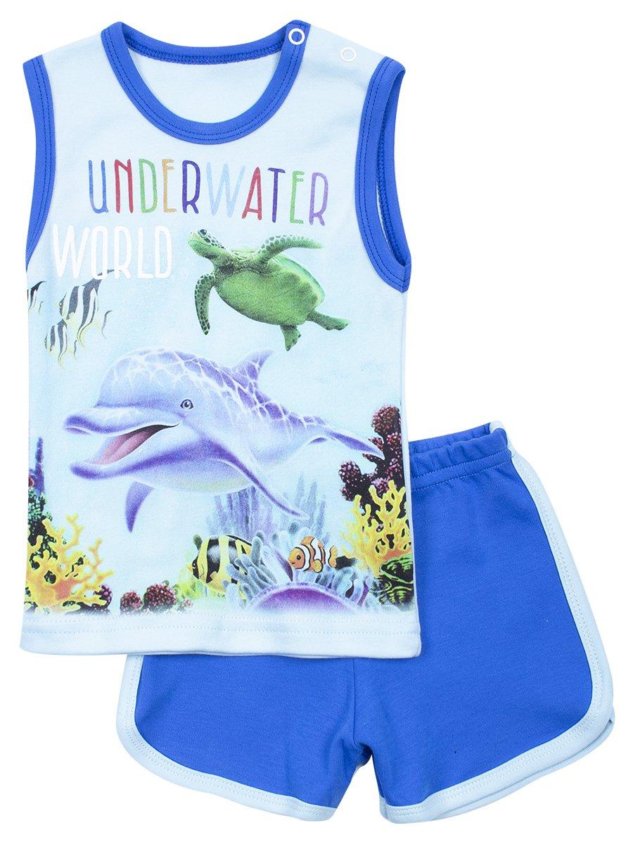 Комплект для девочки: майка и шорты, цвет: голубой