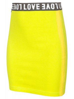 Юбка для девочки с лампасами из футера 2-х нитки