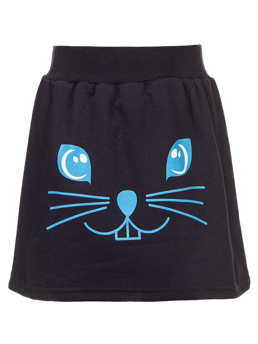 Комплект для девочки: лонгслив и юбка, цвет: бирюзовый