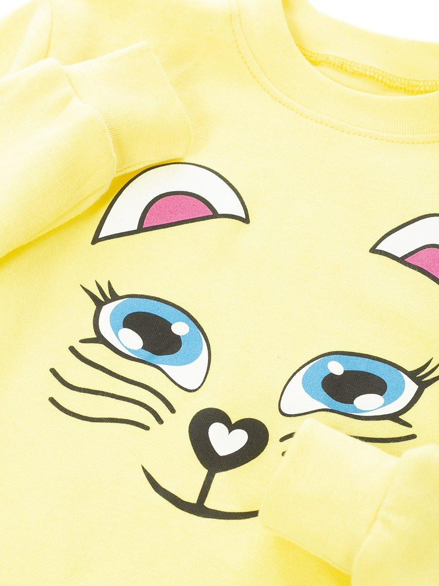 Комплект детский:лонгслив и леггинсы, цвет: желтый