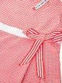 Блуза (топ) для девочки из текстиля, цвет: красная клетка