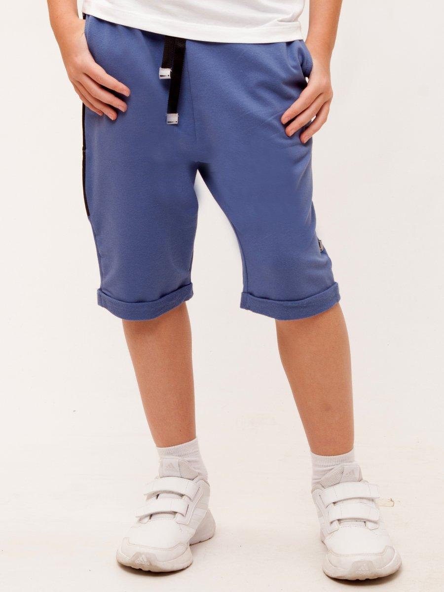 Бриджи для мальчика из футера 2-х нитка, цвет: джинсовый
