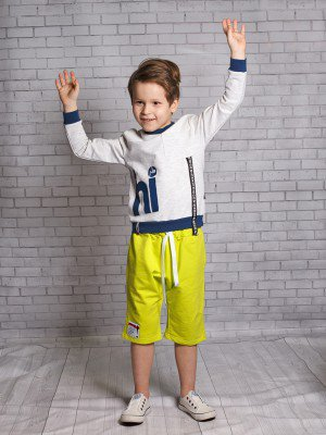 Свитшот (джемпер) для мальчика из футера 2-х нитким
