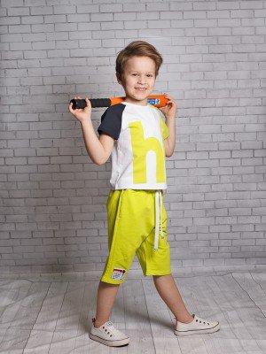 Футболка для мальчика из кулирки с лайкрой