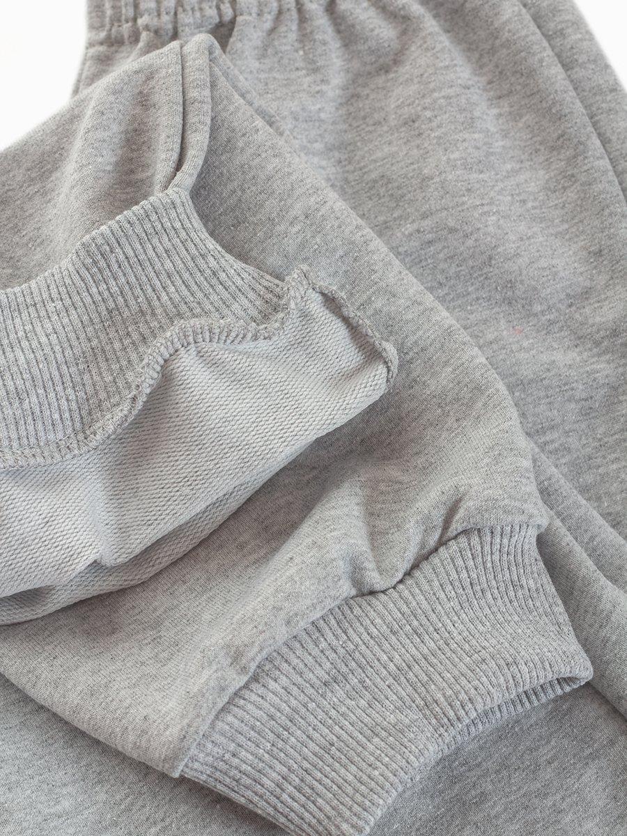 Брюки спортивные для девочки, цвет: серый меланж