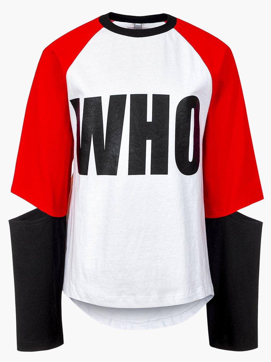 Лонгслив (футболка с длинными рукавами) из кулирки с лайкрой, цвет: белый