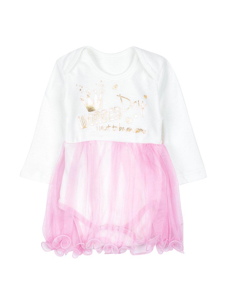Боди с юбочкой из сетки, цвет: розовый