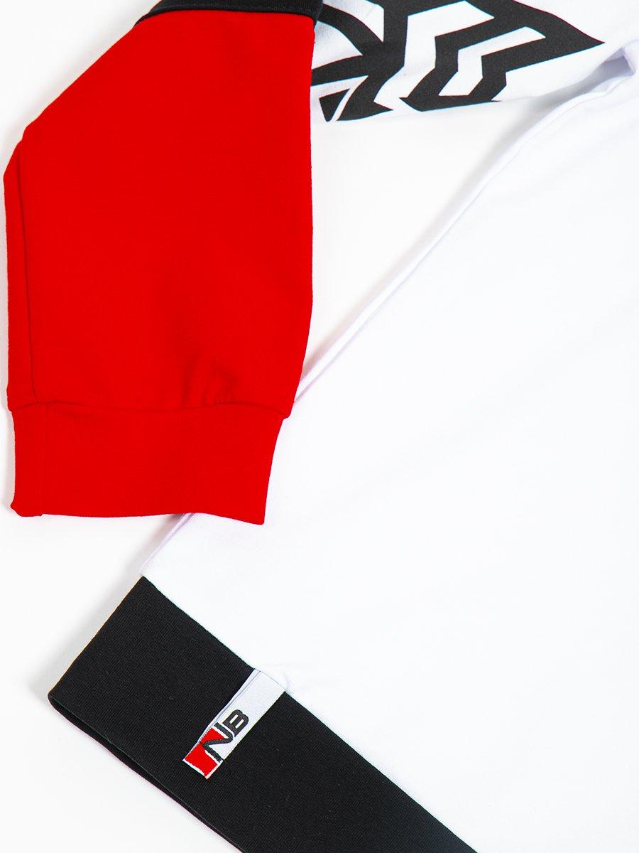 Толстовка с капюшоном для мальчика, цвет: белый