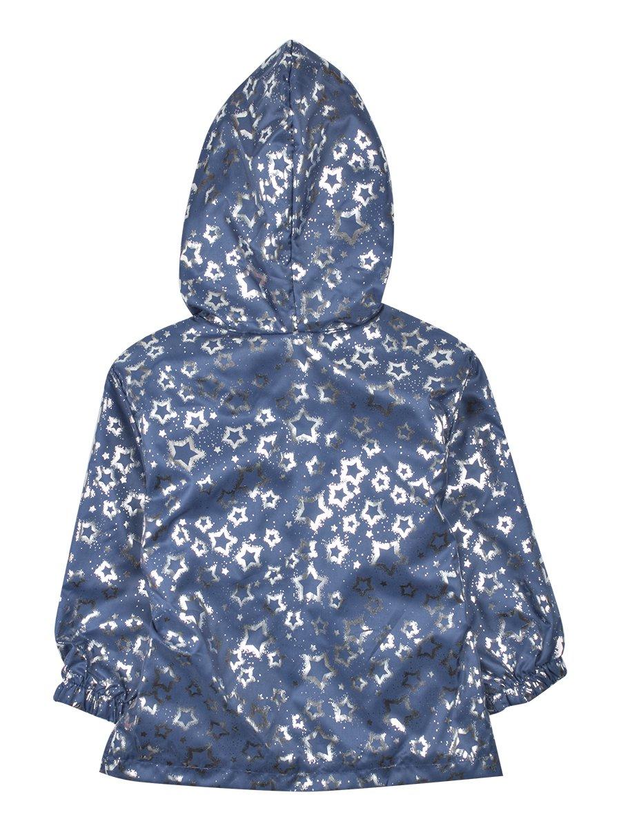 Куртка(ветровка) для девочки, цвет: темно-синий