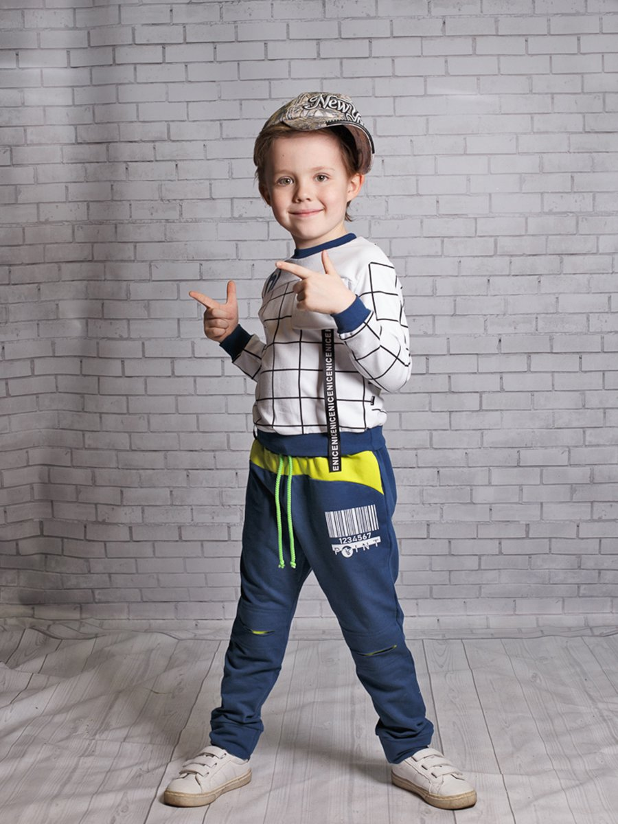 Джоггеры (брюки) из футера 2-х нитки, цвет: темно-синий