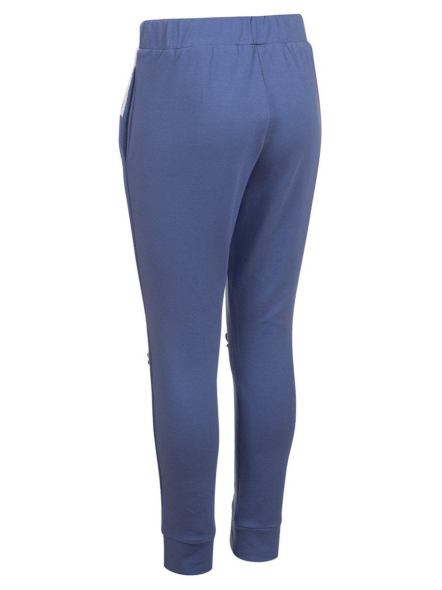 Джоггеры (брюки) из футера 2-х нитки, цвет: джинсовый