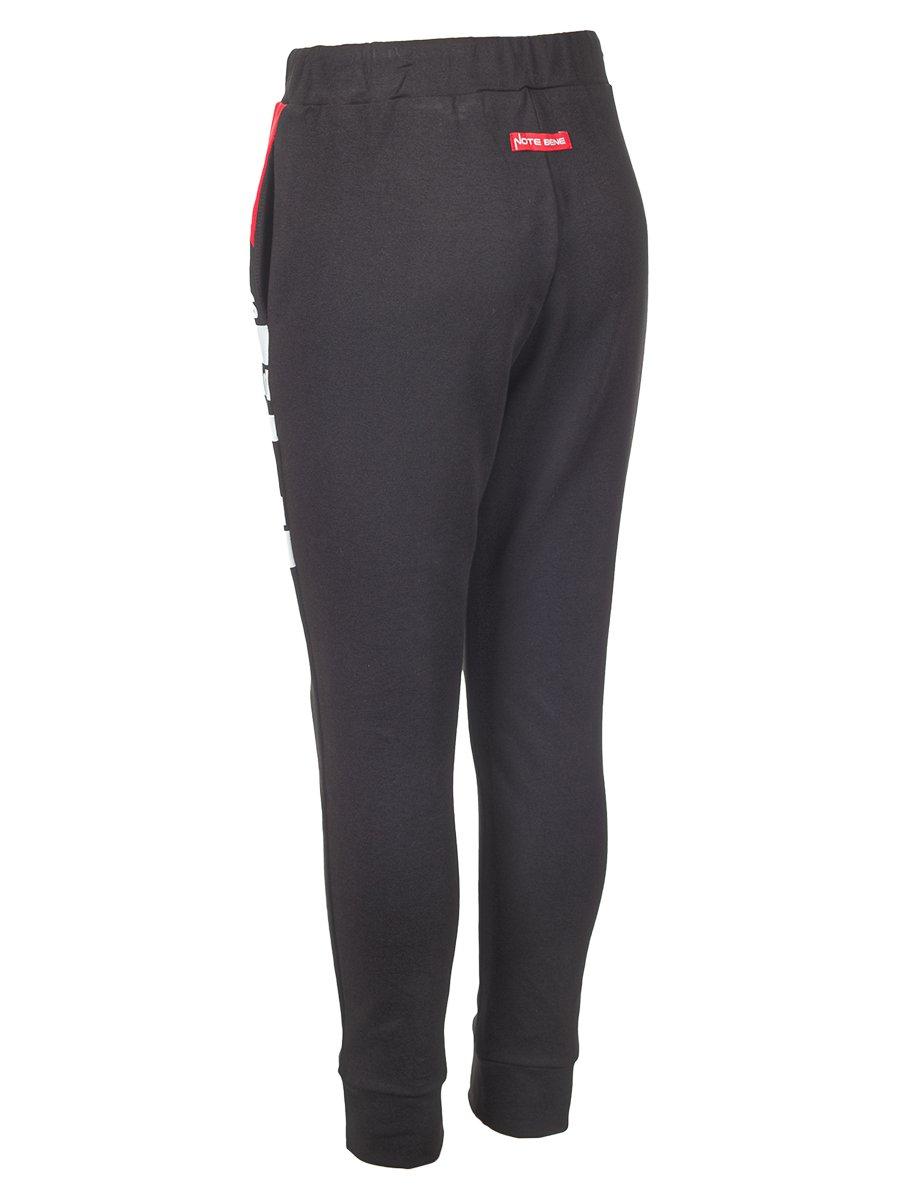 Джоггеры (брюки) из футера 2-х нитки, цвет: черный