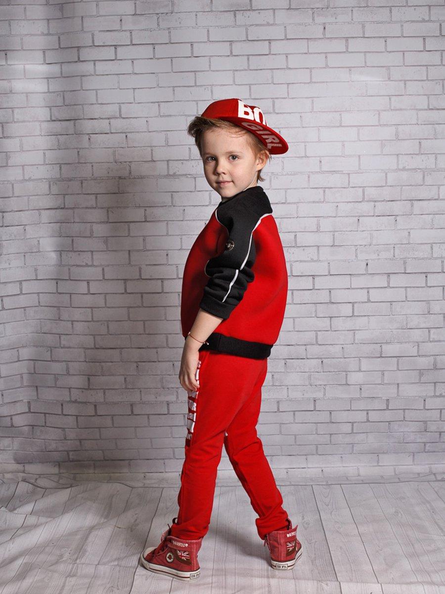 Джоггеры (брюки) из футера 2-х нитки, цвет: красный