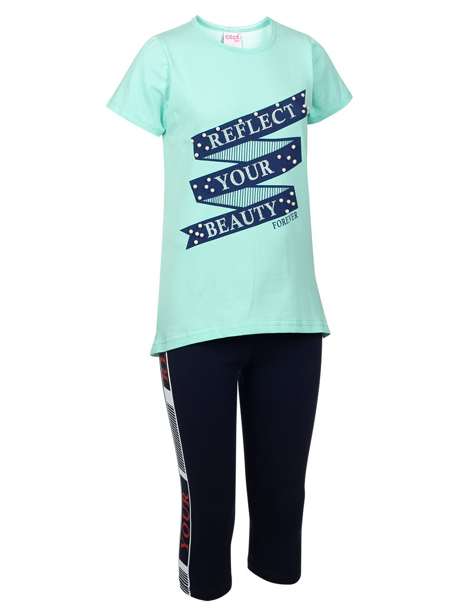 Комплект:футболка и лосины