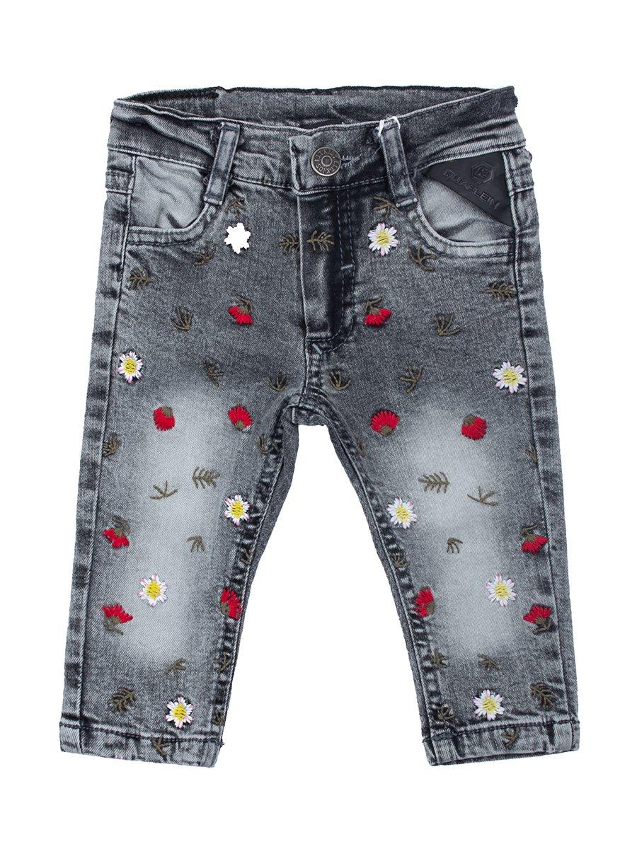 Брюки джинсовые для девочки, цвет: серый