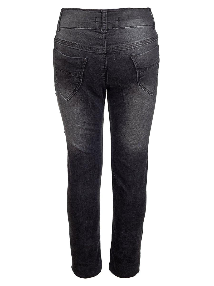 Брюки джинсовые для девочки, цвет: черный