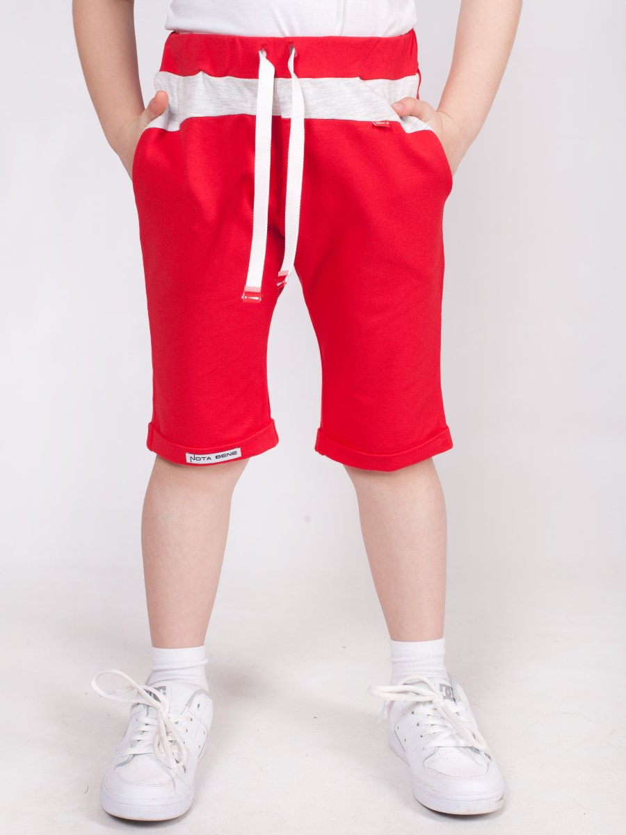 Шорты удлиненные прямого силуэта для мальчика, цвет: красный