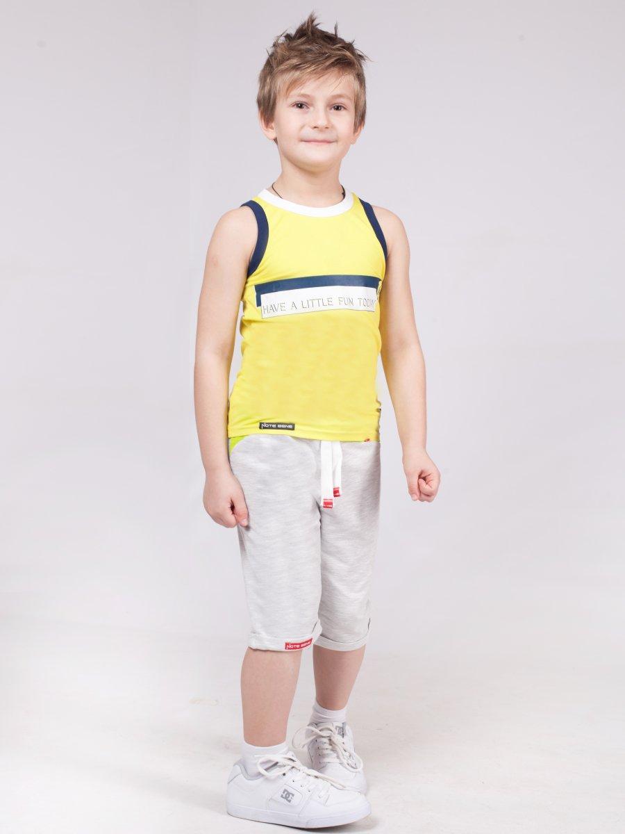 Шорты удлиненные прямого силуэта для мальчика, цвет: серый меланж