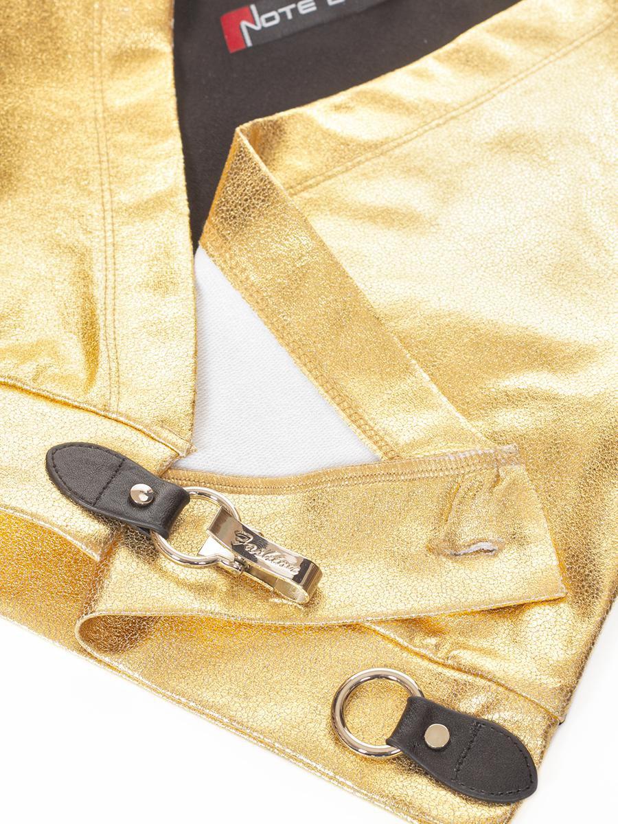 Кардиган укороченный для девочки, цвет: золотой