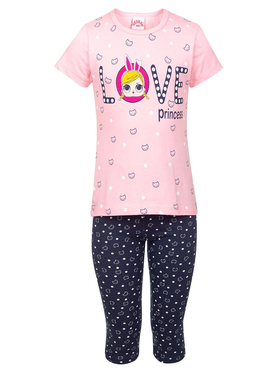Комплект для девочки, цвет: светло-розовый