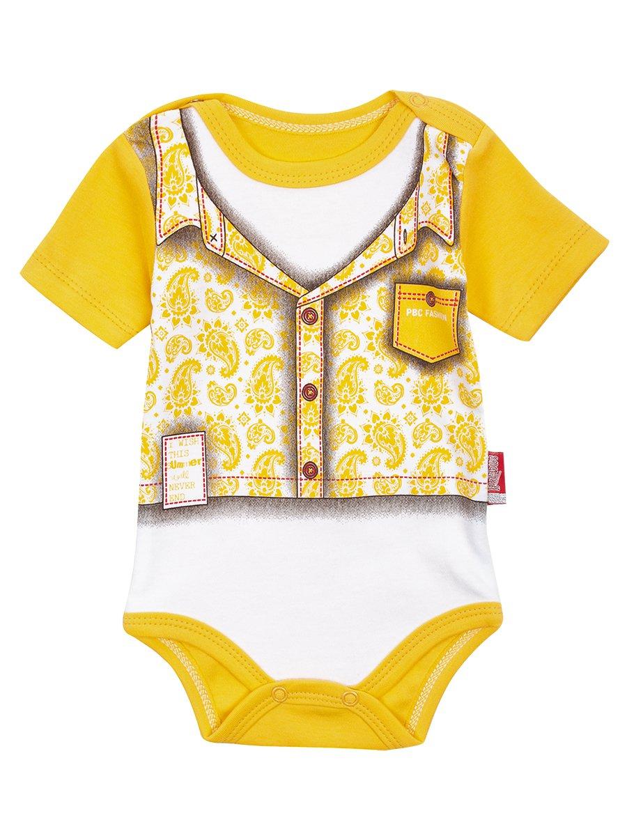 Боди для мальчика, цвет: желтый