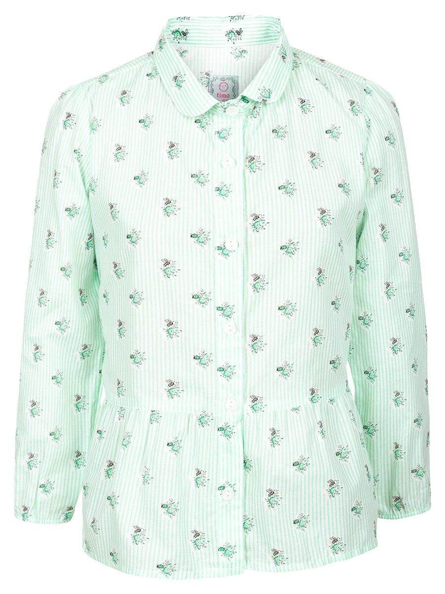 Блузка для девочки, цвет: мятный