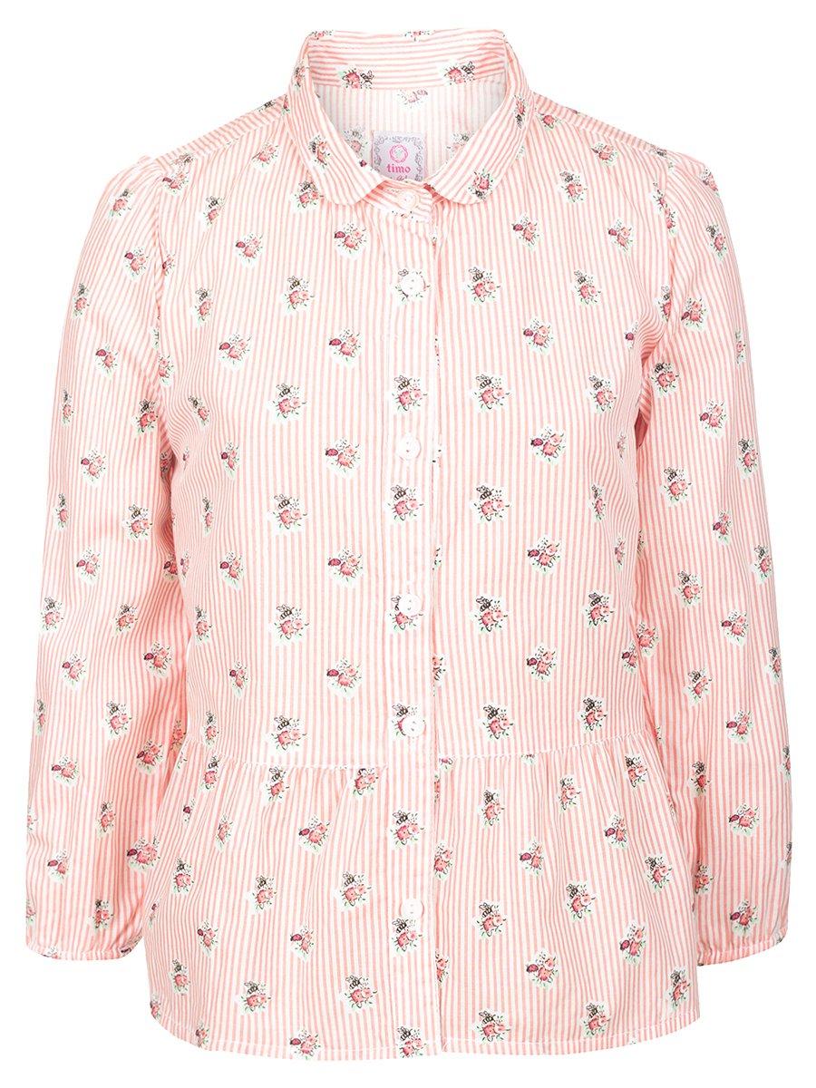 Блузка для девочки, цвет: коралловый