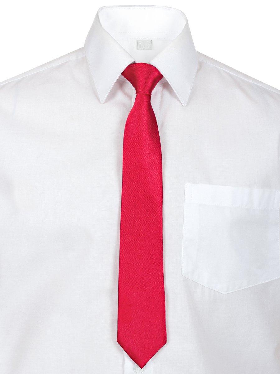 Галстук в подарочной упаковке для мальчика, длина 26 см, цвет: красный