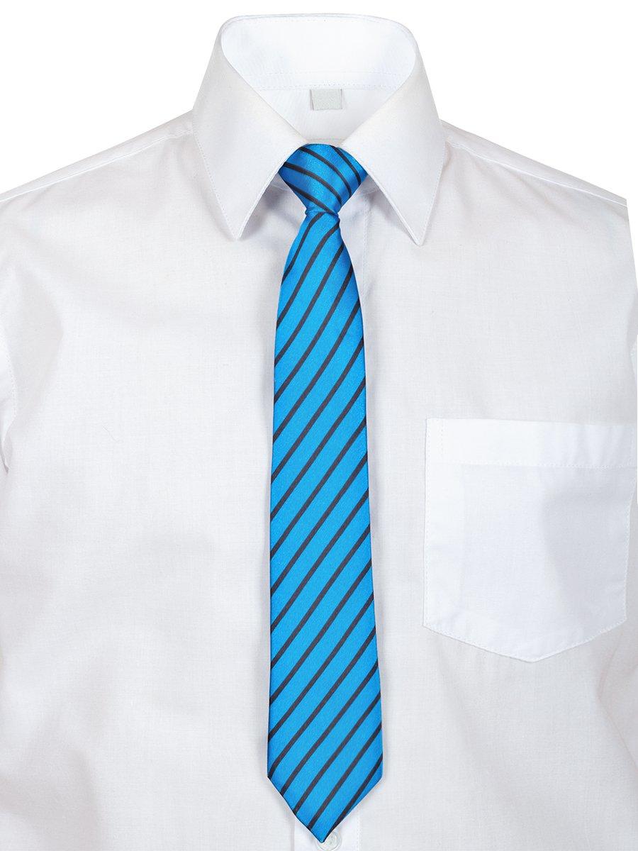 Галстук в подарочной упаковке для мальчика, длина 26см, цвет: синий