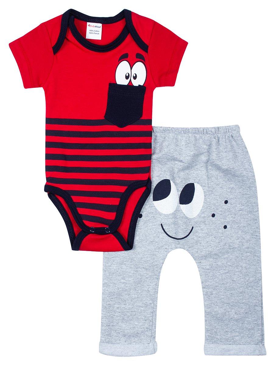 Комплект для мальчика: боди и штанишки, цвет: красный