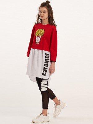 Платье из кулирки с лайкрой и текстиля