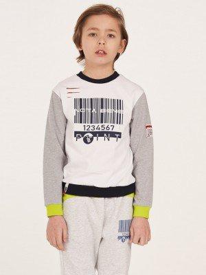 Лонгслив (футболка с длинными рукавами) для мальчика из кулирки с лайкрой