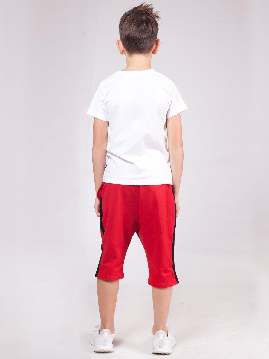 Бриджи зауженные со средней посадкой для мальчика, цвет: красный
