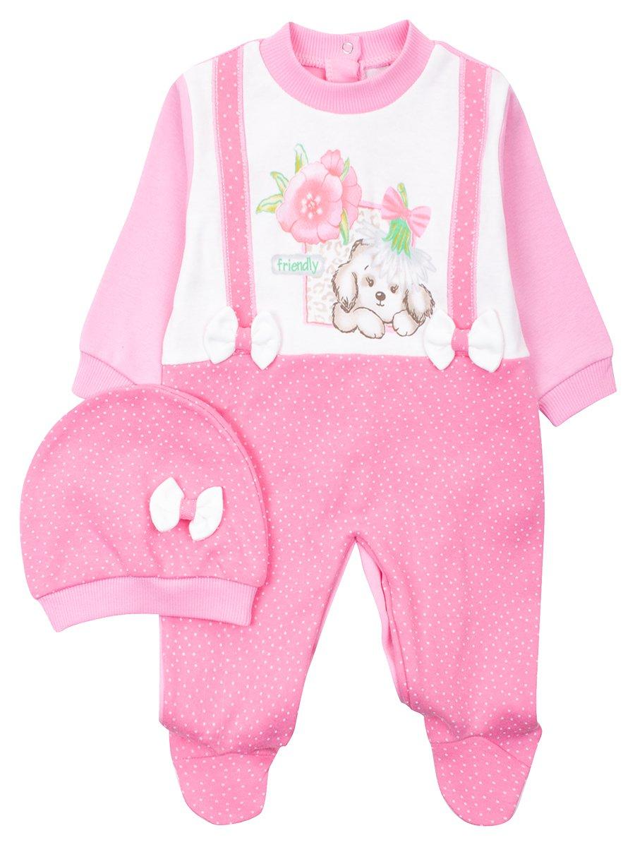 Комбинезон для девочки, цвет: розовый