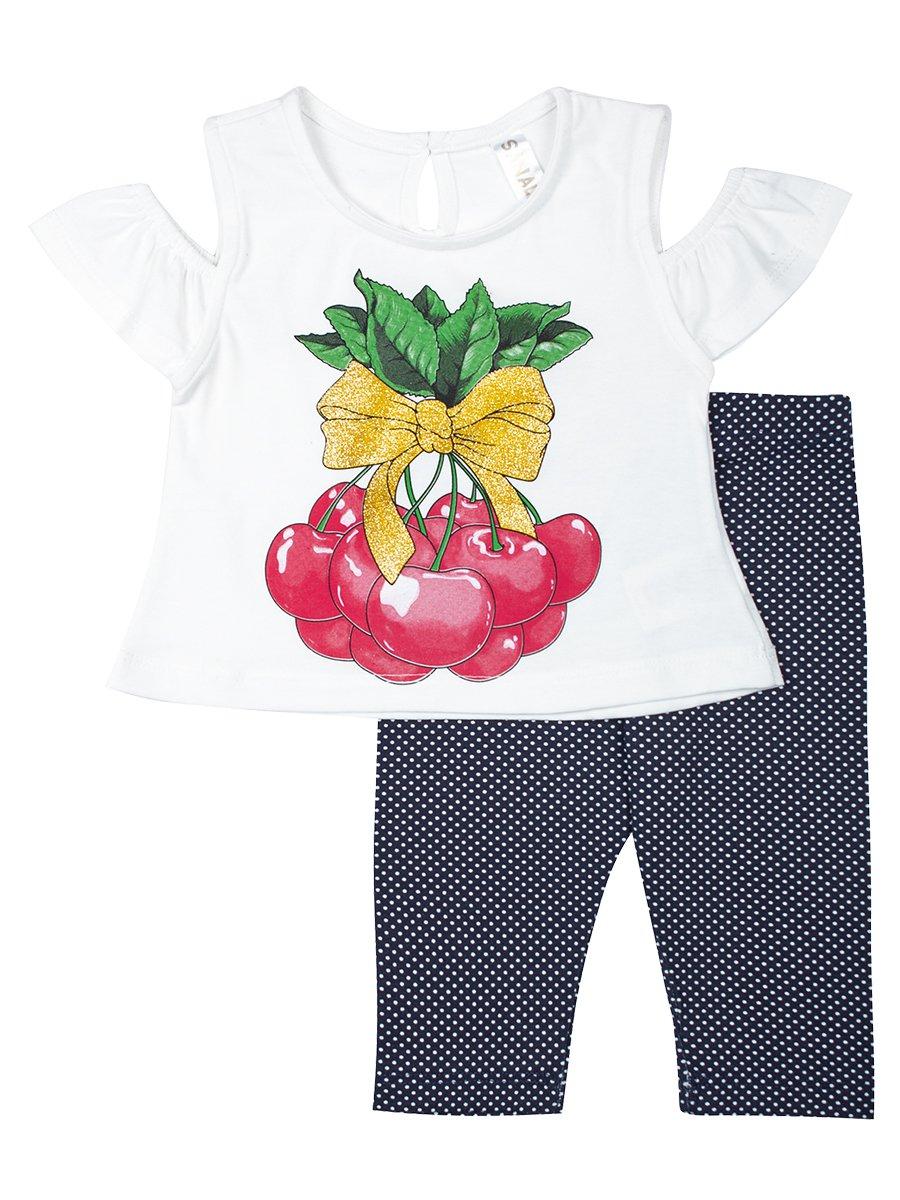 Комплект для девочки: футболка и капри