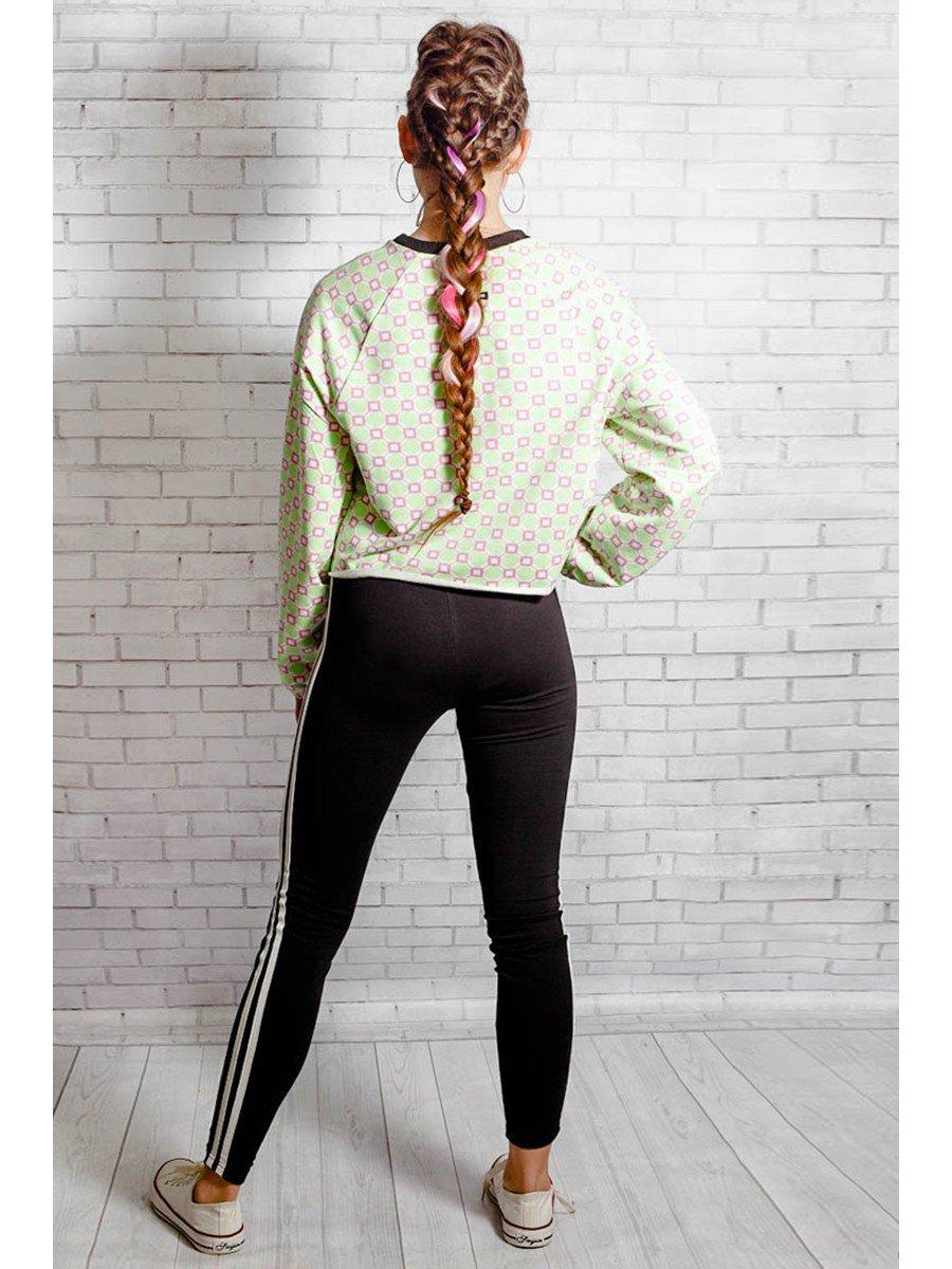 Костюм спортивный:свитшот оверсайз и леггинсы с лампасами, цвет: мультиколор