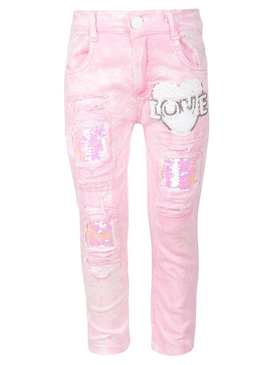 Брюки джинсовые для девочки, цвет: светло-розовый