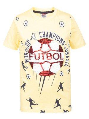Футболка для мальчика декорирована двусторонними пайетками