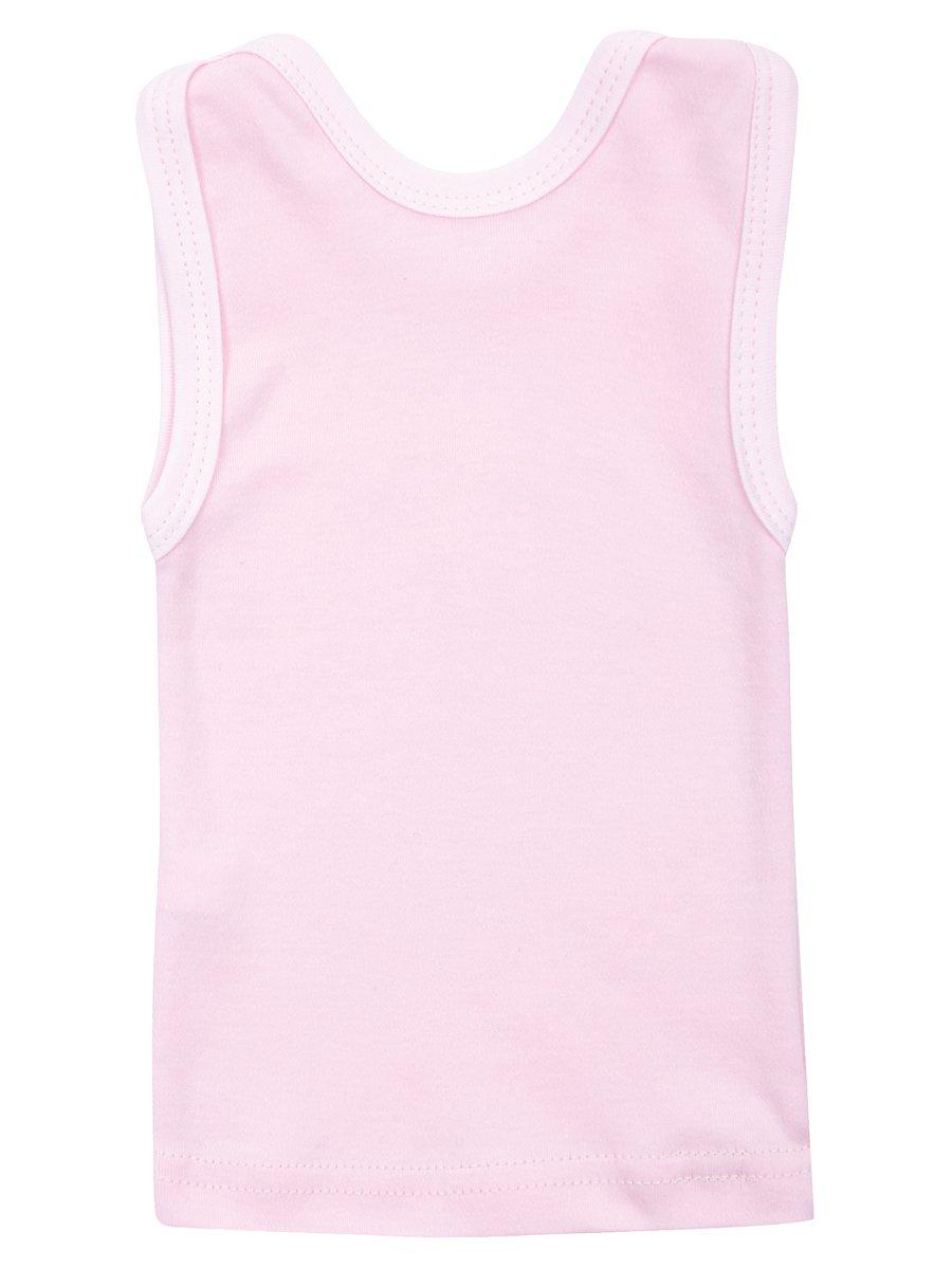 Майка для девочки, цвет: светло-розовый