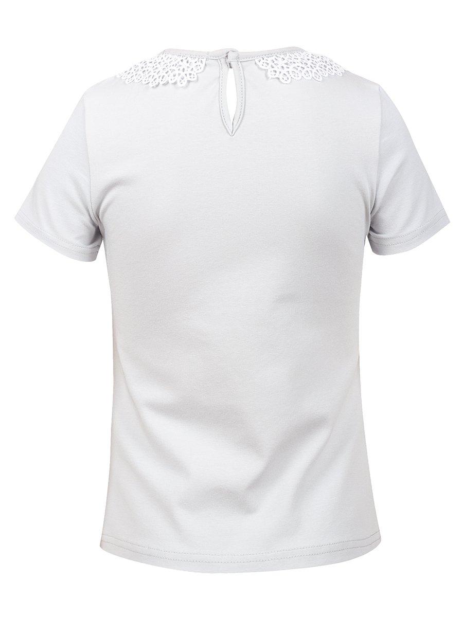 Блузка для девочки, цвет: серый