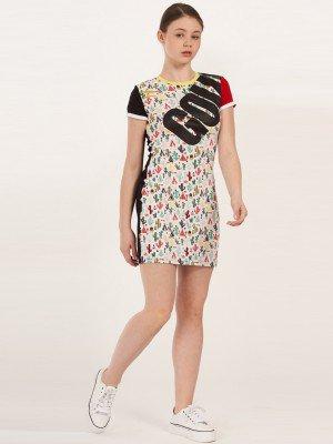 Платье из кулирки с лайкрой