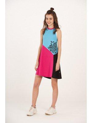 Платье для девочки из кулирки с лайкрой