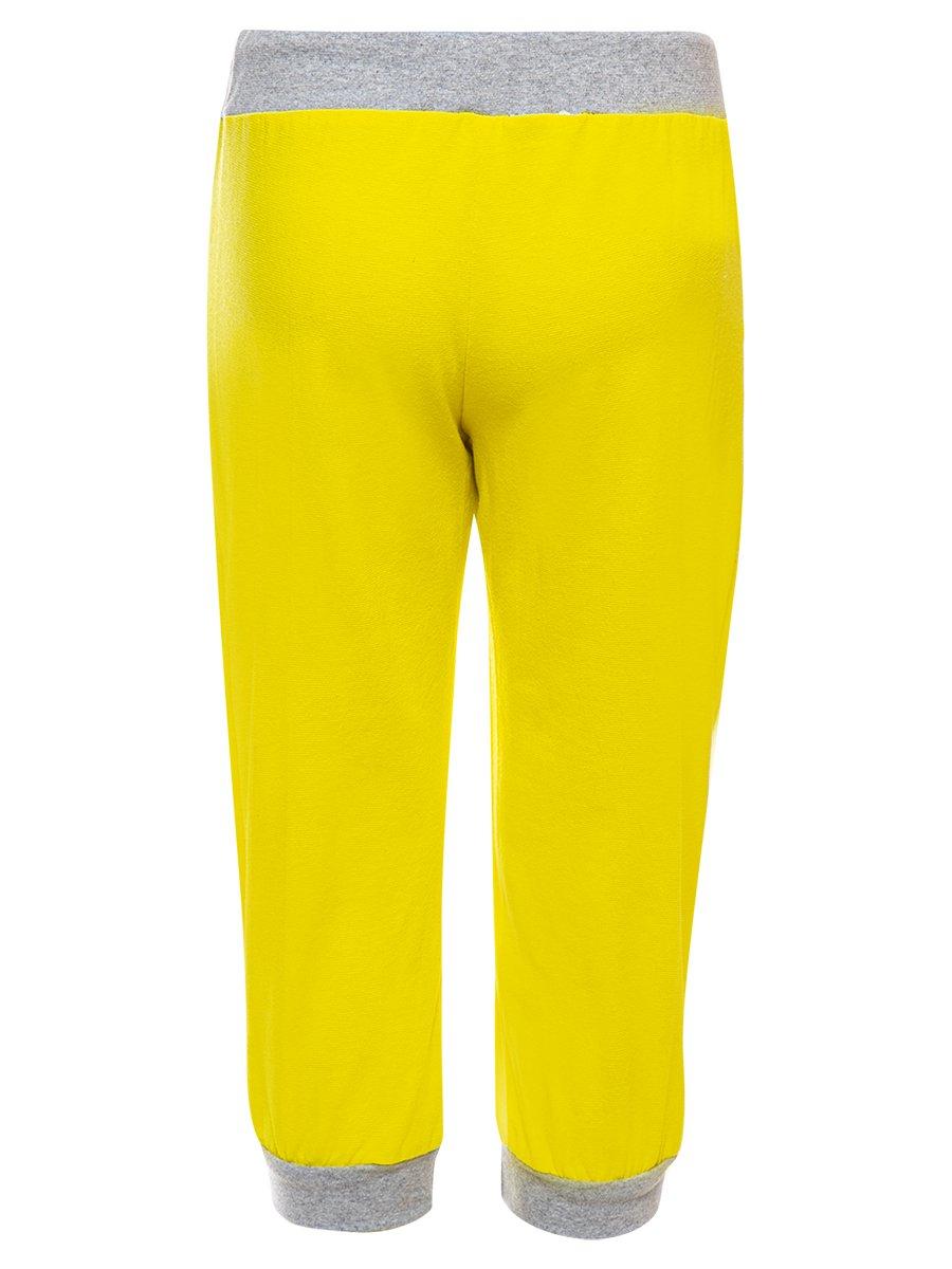 Бриджи прямые для девочки, цвет: желтый