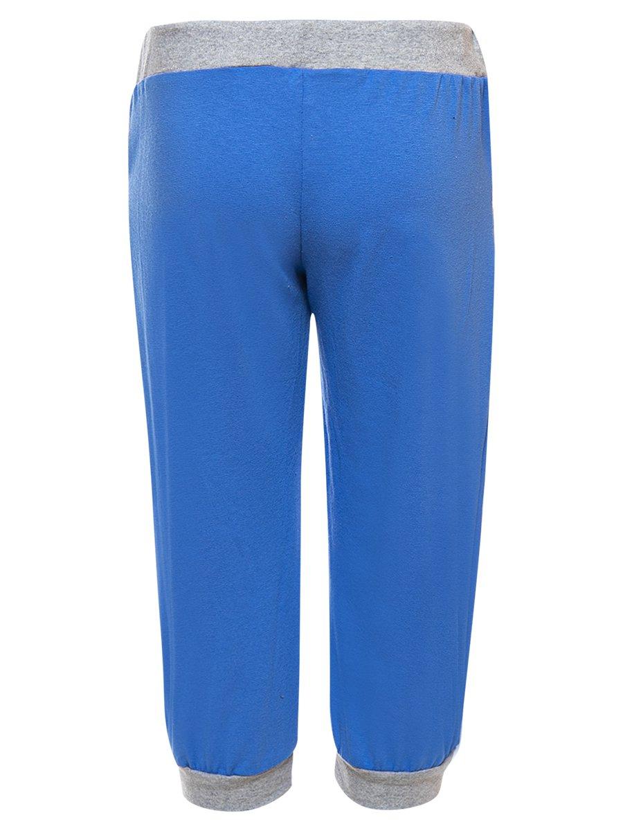 Бриджи прямые для девочки, цвет: синий