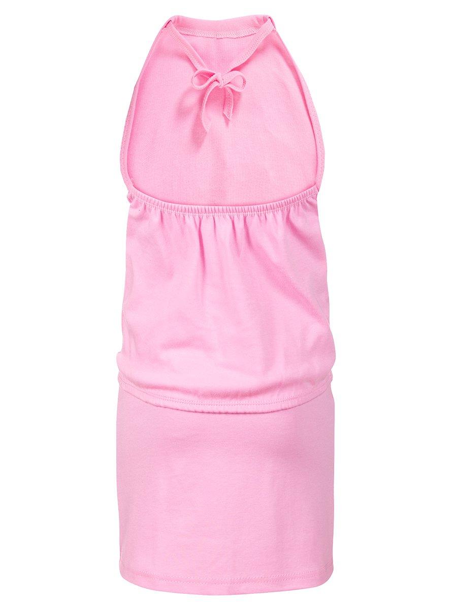Комплект для девочки: юбка с топом, цвет: светло-розовый