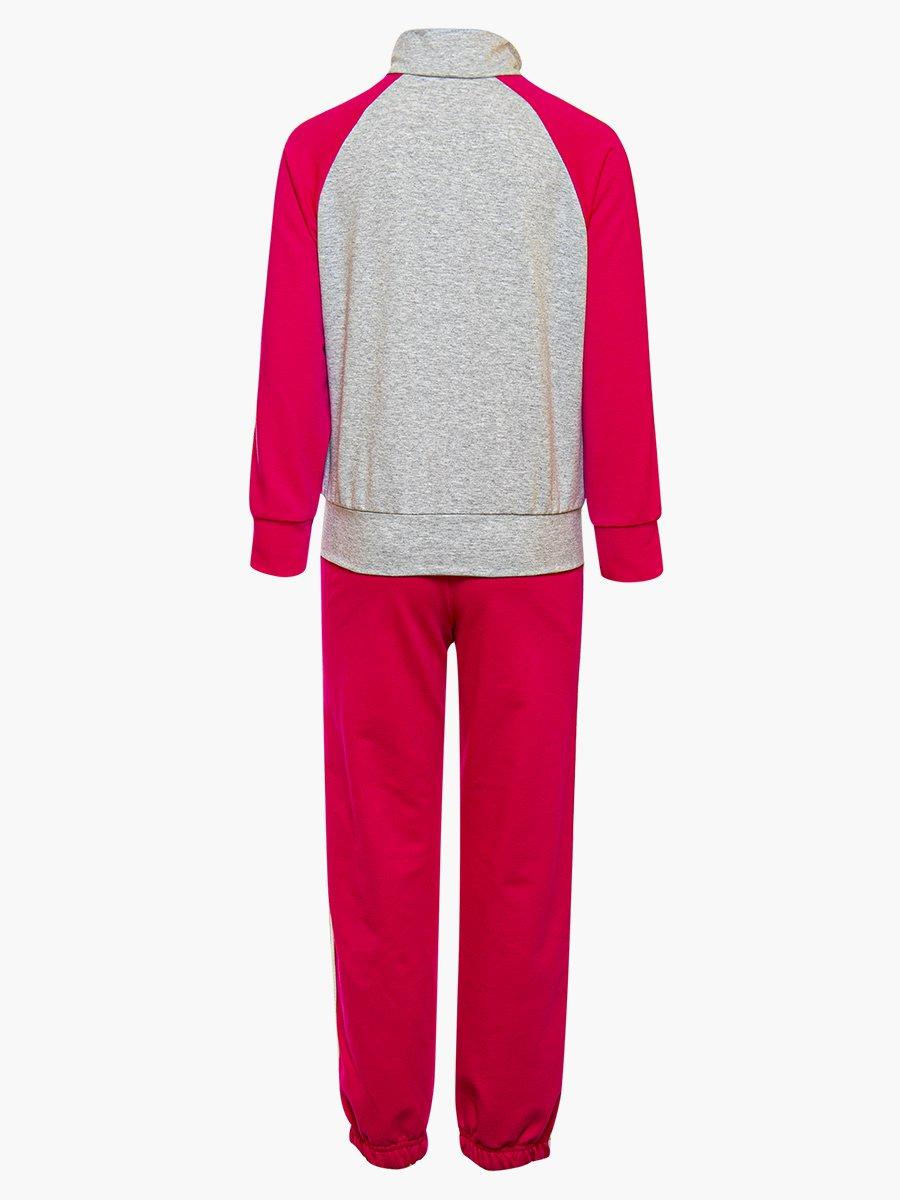 Костюм спортивный:толстовка и брюки зауженные с лампасами, цвет: розовый