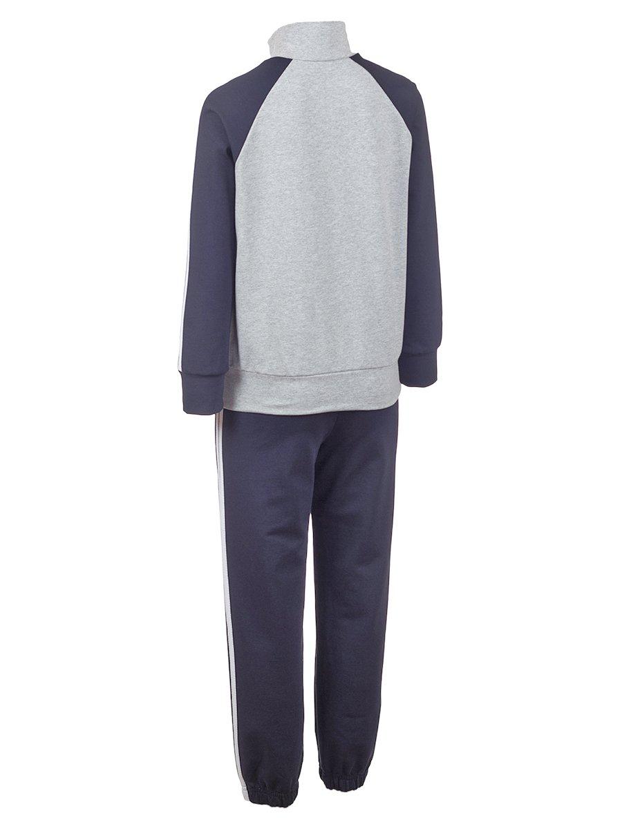 Костюм спортивный:толстовка и брюки зауженные с лампасами, цвет: темно-синий