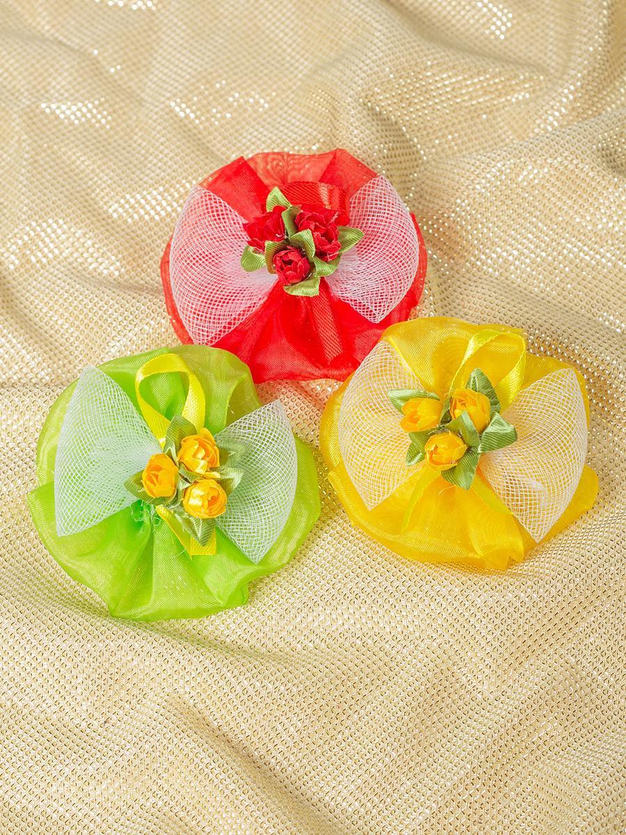 Бант-резинка, пара 7см, цвет: мультиколор