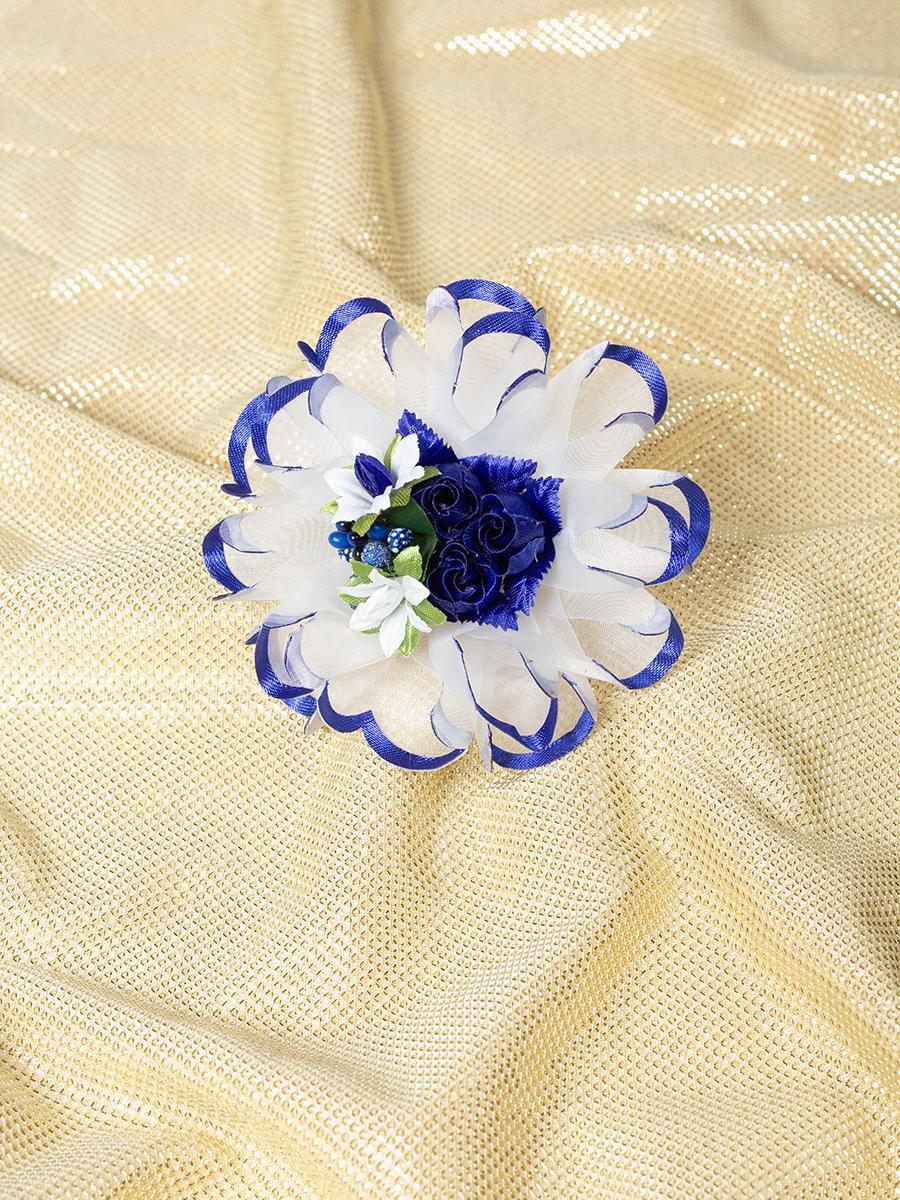 Бант-резинка 8см, цвет: синий